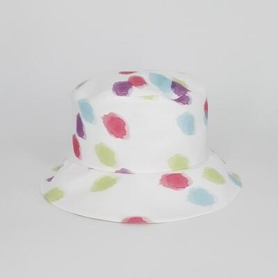 Bucket hoed met pastel vlekken- mt 56