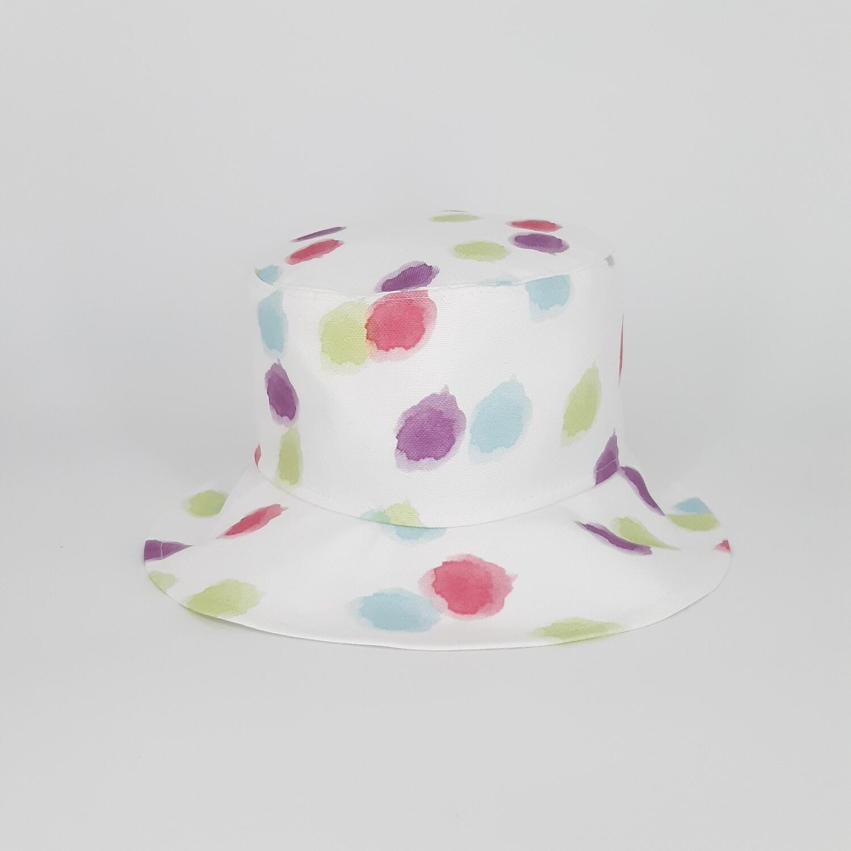 Bucket hoed met pastel vlekken- mt 57