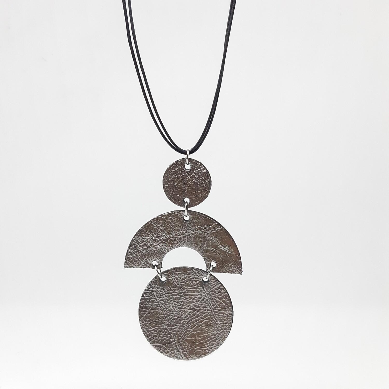 Hanger sterrenbeeld Cancer/Kreeft (21 jun-22 jul) zilver lakleder