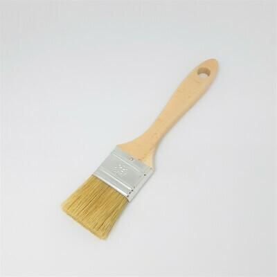 Platte borstel met natuurlijke haren 4 cm