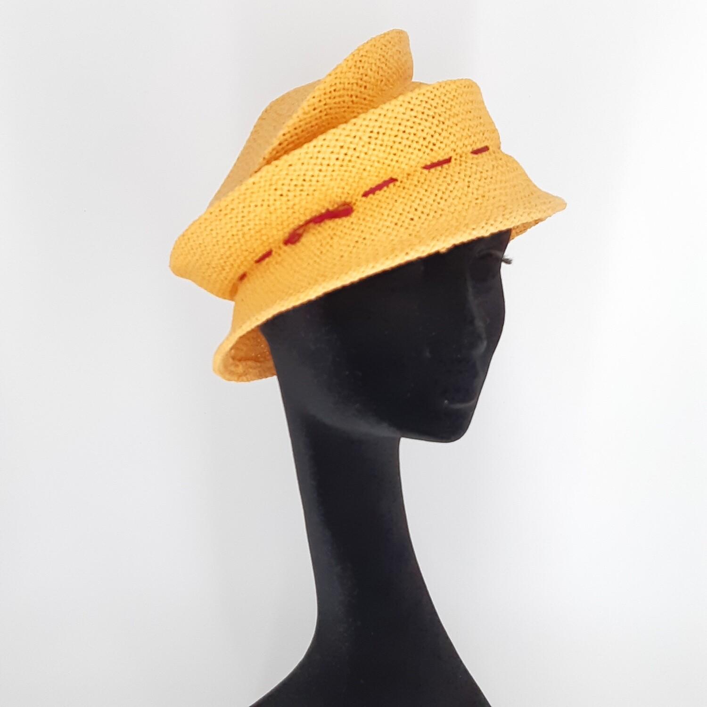 Opvouwbare stijlvolle zomerhoed in papyrus - oranje