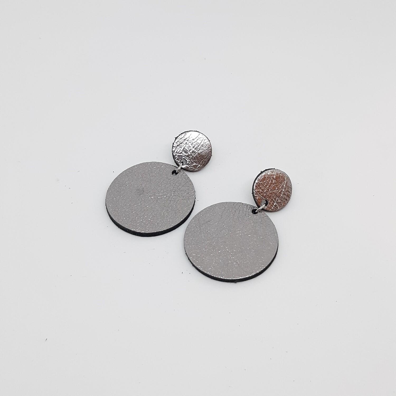 Oorbellen sterrenbeeld Virgo/Maagd (23 aug-22 sept) zilver lakleder