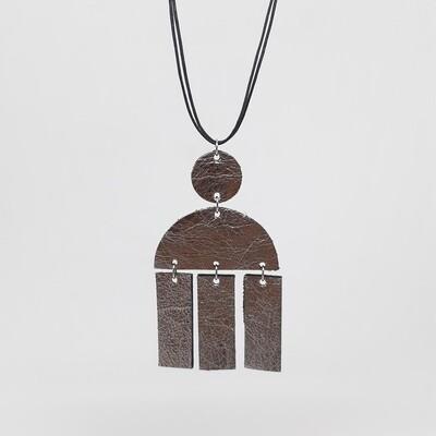 Hanger sterrenbeeld Libra/Weegschaal (23 sept-22 okt) zilver lakleder