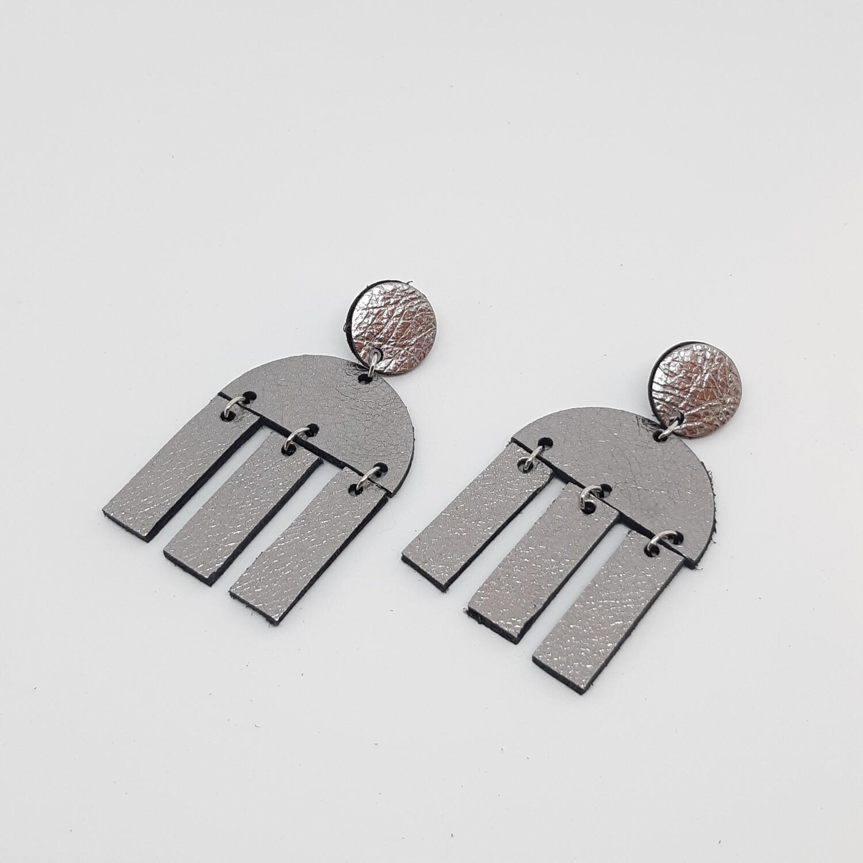 Oorbellen sterrenbeeld Libra/Weegschaal (23 sept-22 okt) zilver lakleder