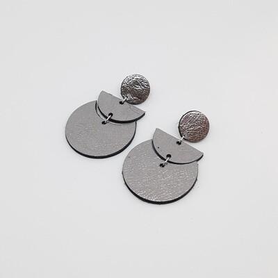 Oorbellen sterrenbeeld Scorpio/Schorpioen (23 okt-21 nov) zilver lakleder