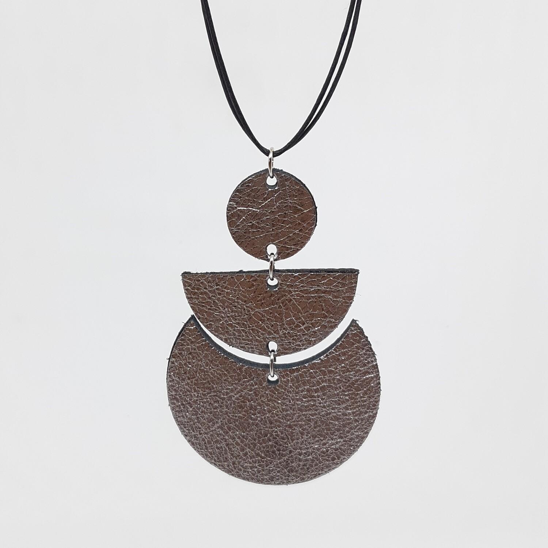 Hanger sterrenbeeld Scorpio/Schorpioen (23 okt-21 nov) zilver lakleder