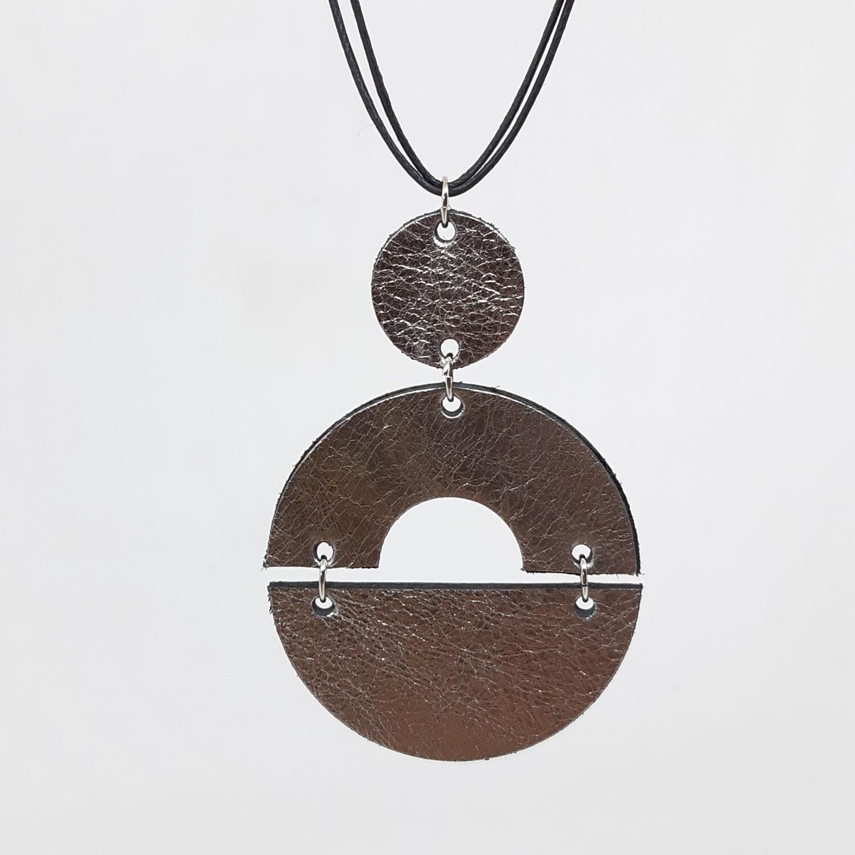 Hanger sterrenbeeld Capricorn/Steenbok (22 dec-19 jan) zilver lakleder