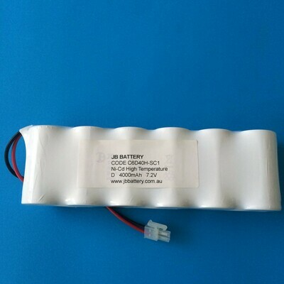 6 x D4000mAh 7.2V Ni-Cd HT S/S Plug C1