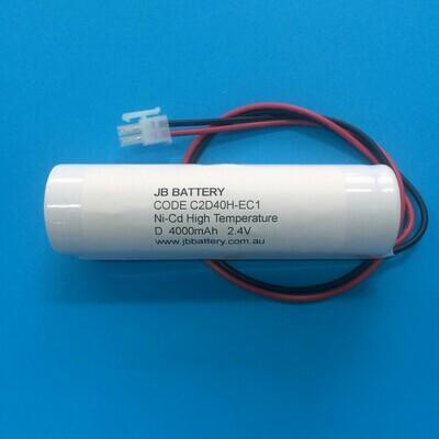 2 x D4000mAh 2.4V Ni-Cd HT Stick+Plug C1