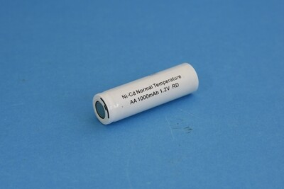 Single Cell AA 1000mAh Ni-Cd 1.2V Flat Head