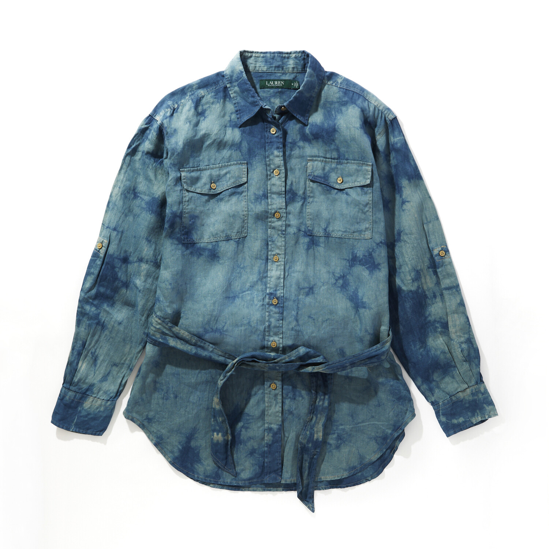 Ralph Lauren/ラルフローレン 麻シャツジャケット リネン