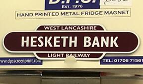 Station Name fridge magnets