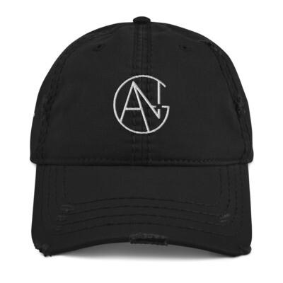 ANG Productions Logo - Black Distressed Cap
