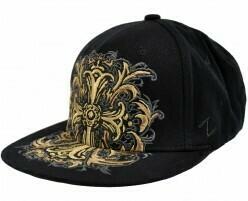Golden Cross Flat Bill Hat