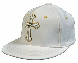 Metallic Gold Cross Flat BIll