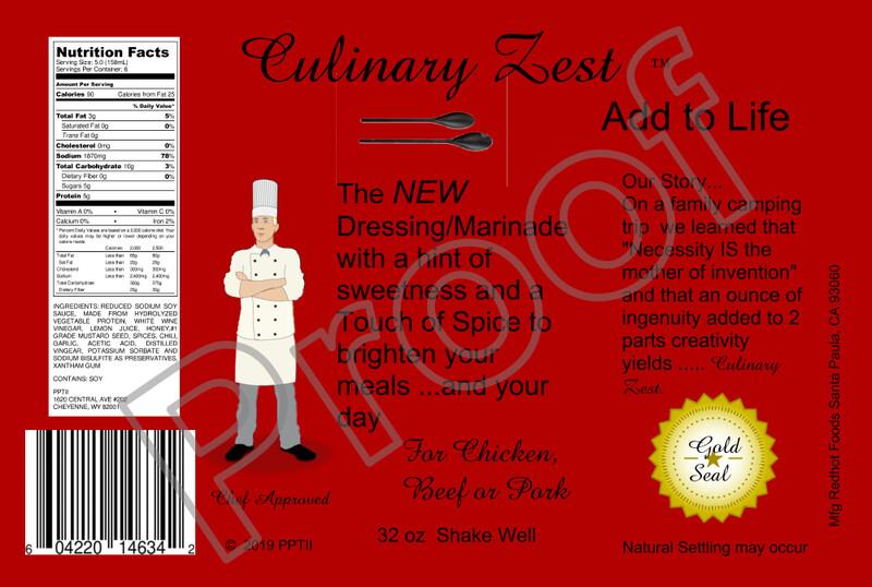 Culinary Zest Dressing & Marinade 2 PACK (TWO 32 oz Bottles)  w/ T-Shirt Gift Pack  - XXL