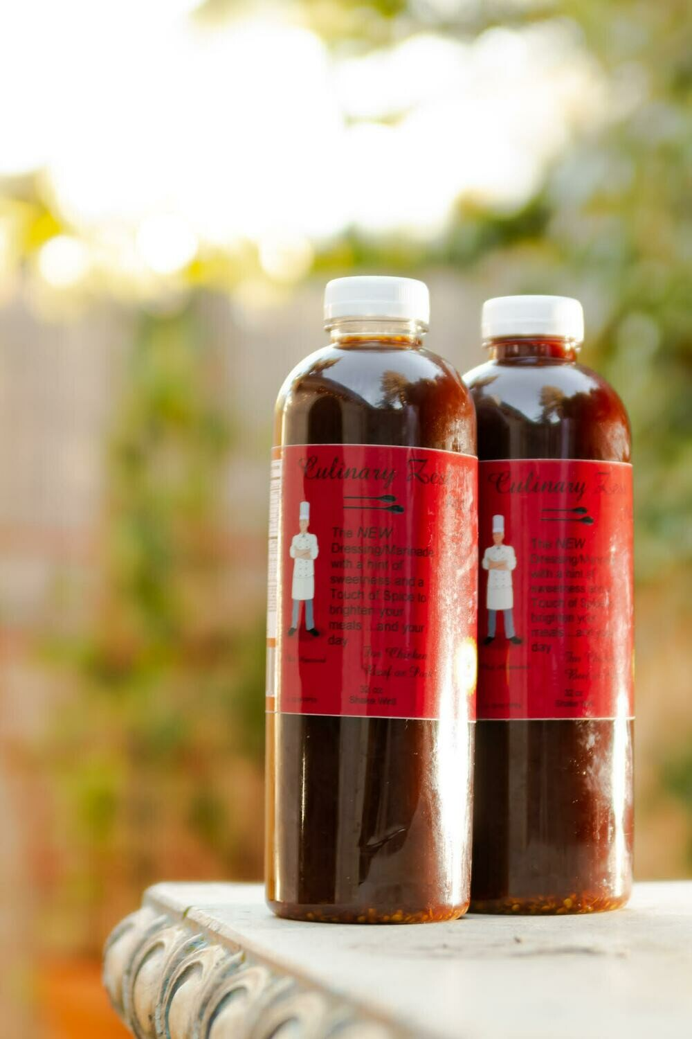 Culinary Zest Dressing & Marinade 2 PACK (TWO 32 oz Bottles)  w/ Baseball cap GIFT Pack FREE SHIPPING