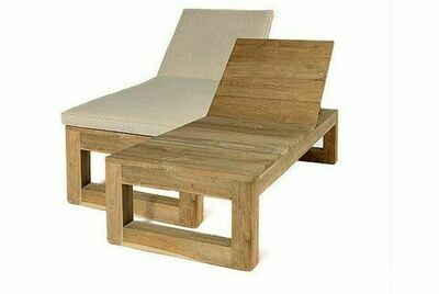 Sempre SUN BED Wood Outdoor inkl. Kissen