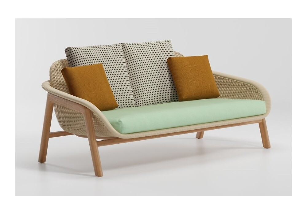 Kettal VIMINI 2-Sitzer Sofa inkl. Sitzkissen