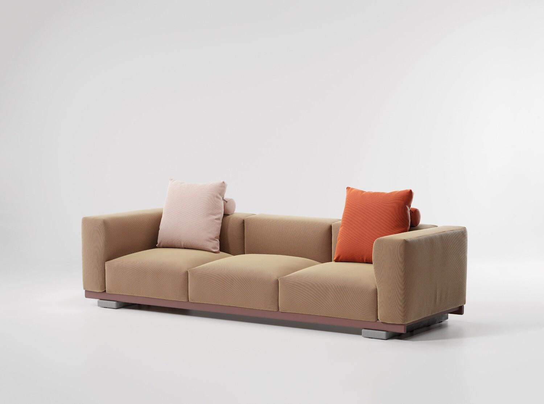 Ketal MOLO 3-Seater Sofa inkl. Rückenkissen mit Rolle