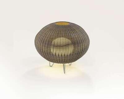Bover GAROTA Leuchte P/01, stainless steel, brown shade