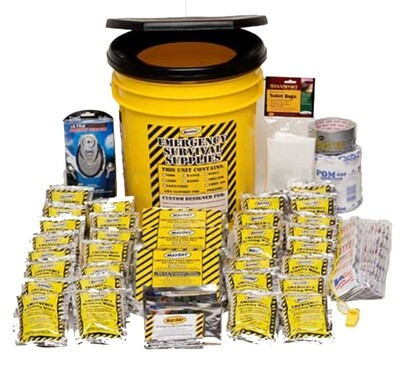 Classroom Lockdown Honey Bucket Kit (28 Person)