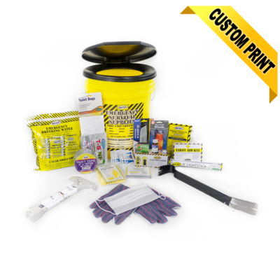 Deluxe Honey Bucket Home Emergency Kit (1 Person)