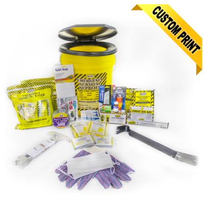 Deluxe Honey Bucket Home Emergency Kit (2 Person)