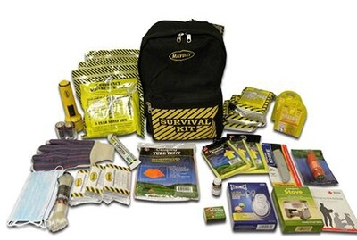 Deluxe Emergency Backpack Kit (3 Person)