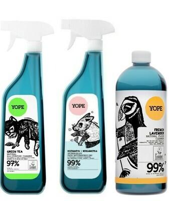 YOPE Набір з 3 миющих для дому