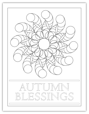 AUTUMN BLESSINGS COLORING PAGE