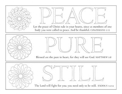 PEACE, PURE, STILL BOOKMARKS