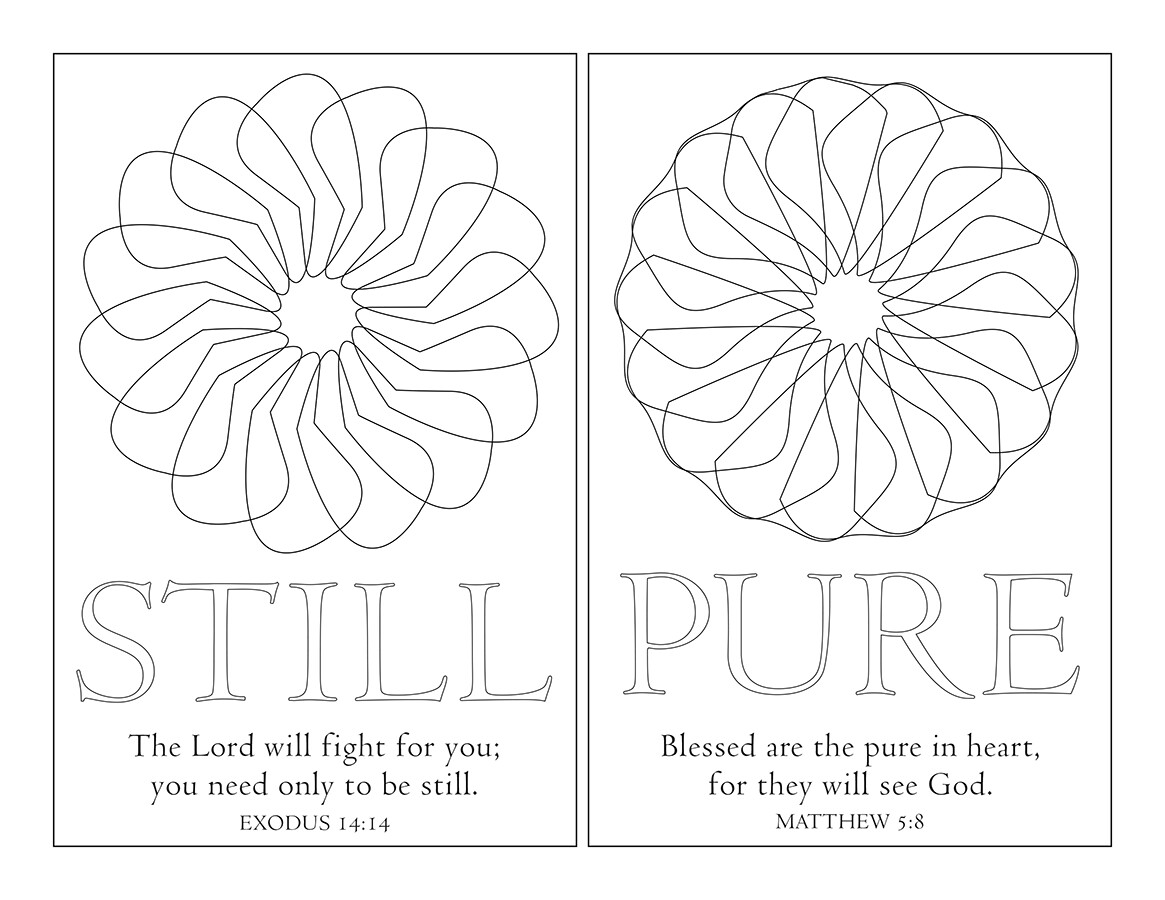 STILL & PURE POSTCARD WITH SCRIPTURES