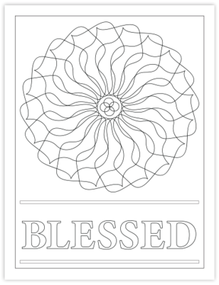 BLESSED COLORING PAGE