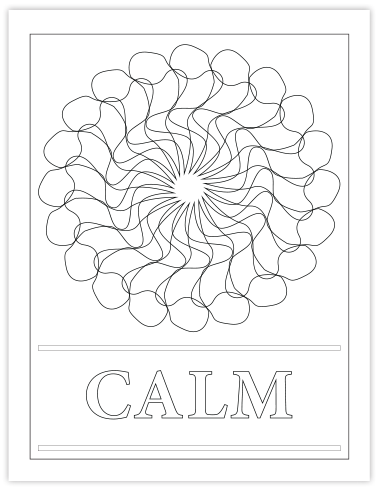 CALM COLORING PAGE