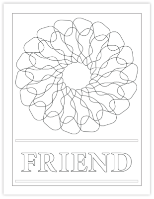 FRIEND COLORING PAGE