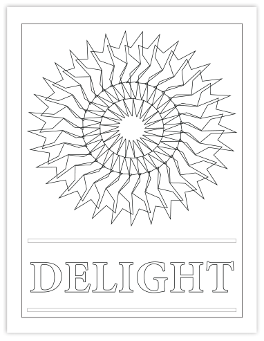 DELIGHT COLORING PAGE