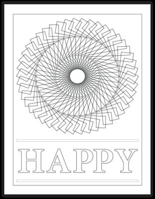 HAPPY COLORING PAGE
