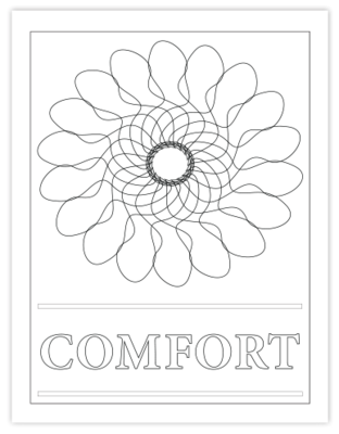 COMFORT COLORING PAGE