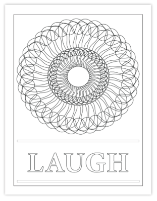 LAUGH COLORING PAGE