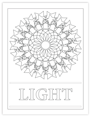 LIGHT COLORING PAGE