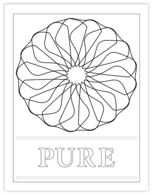 PURE COLORING PAGE