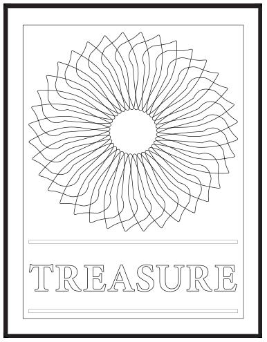TREASURE COLORING PAGE