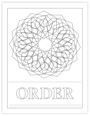 ORDER COLORING PAGE