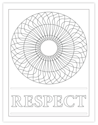 RESPECT COLORING PAGE