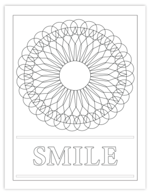 SMILE COLORING PAGE
