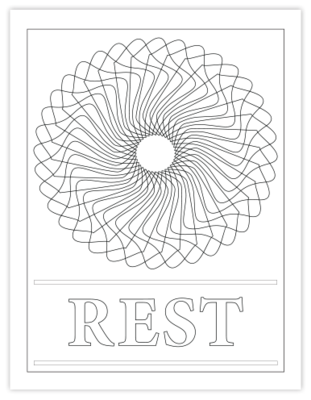 REST COLORING PAGE