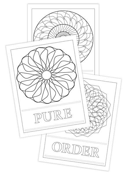 ORDER-PURE-SOFT TRIO COLORING PAGES