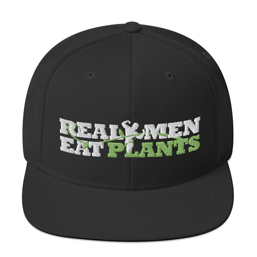 Real Men Eat Plants Logo - Hat Black
