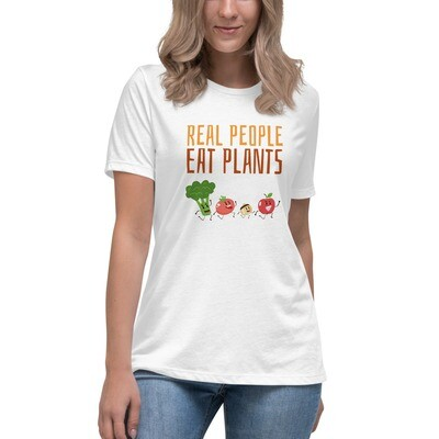 Real People Eat Plants Women's Relaxed T-Shirt All Veggies